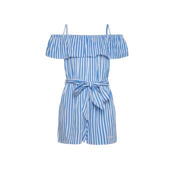 Textil Dívčí Overaly / Kalhoty s laclem Pepe jeans LILI Modrá