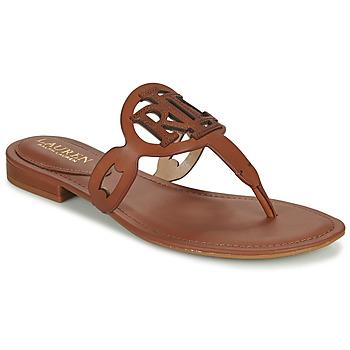 Boty Ženy Sandály Lauren Ralph Lauren AUDRIE Zlatohnědá