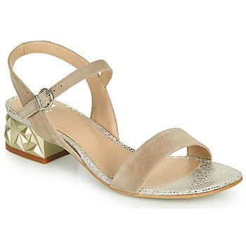 Boty Ženy Sandály Perlato 11817-CAM-FREJE-STONE Béžová / Zlatá