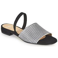 Boty Ženy Sandály Perlato 11117-YORK-ARGENT-CAM-NOIR Černá / Stříbřitá