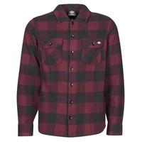 Textil Muži Košile s dlouhymi rukávy Dickies NEW SACRAMENTO SHIRT MAROON Bordó / Černá