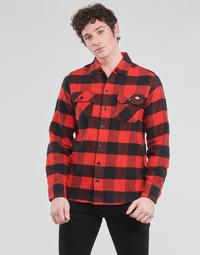 Textil Muži Košile s dlouhymi rukávy Dickies NEW SACRAMENTO SHIRT RED Červená / Černá
