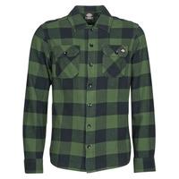 Textil Muži Košile s dlouhymi rukávy Dickies NEW SACRAMENTO SHIRT PINE GREEN Khaki / Černá