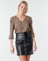 Textil Ženy Halenky / Blůzy Moony Mood NOULIETTE Béžová / Hnědá