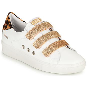 Boty Ženy Nízké tenisky Semerdjian GARBIS Bílá / Zlatá