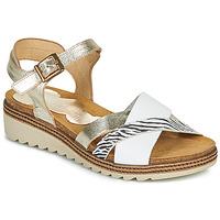 Boty Ženy Sandály Dorking ESPE Bílá / Stříbrná