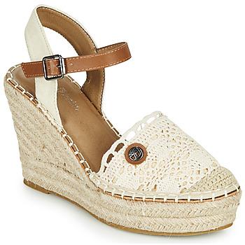 Boty Ženy Sandály Tom Tailor DEB Krémová