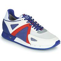Boty Muži Nízké tenisky Emporio Armani EA7 SAPONI Bílá / Modrá / Červená