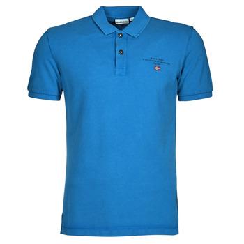Textil Muži Polo s krátkými rukávy Napapijri ELBAS 4 Modrá