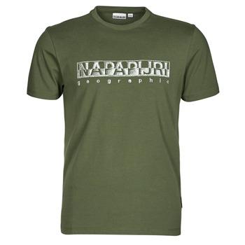 Textil Muži Trička s krátkým rukávem Napapijri SALLAR SS Zelená
