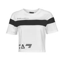 Textil Ženy Trička s krátkým rukávem Emporio Armani EA7 3KTT05-TJ9ZZ-1100 Bílá / Černá