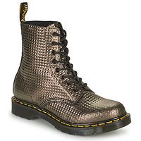 Boty Ženy Kotníkové boty Dr Martens 1460 PASCAL Šedobéžová / Zlatá
