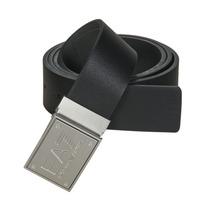 Textilní doplňky Pásky Emporio Armani EA7 TRAIN CORE ID U BELT Černá / Dvě barevné strany / Šedá