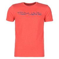 Textil Muži Trička s krátkým rukávem Teddy Smith TICLASS Červená