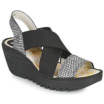 Boty Ženy Sandály Fly London YAJI Černá / Bílá