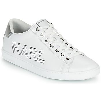 Boty Ženy Nízké tenisky Karl Lagerfeld KUPSOLE II KARL PUNKT LOGO LO Bílá