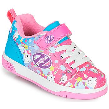 Boty Dívčí Boty s kolečky Heelys DUAL UP X2 Růžová / Modrá