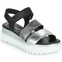 Boty Ženy Sandály Gabor 6461061 Černá / Bílá / Stříbrná