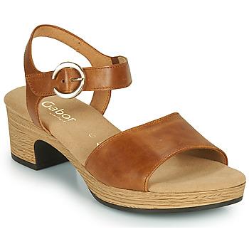 Boty Ženy Sandály Gabor 6272153 Velbloudí hnědá