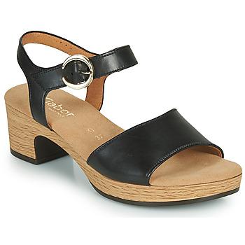 Boty Ženy Sandály Gabor 6272157 Černá
