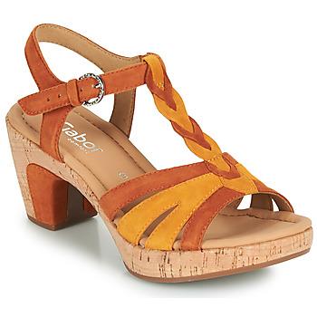 Boty Ženy Sandály Gabor 6273442 Zlatohnědá