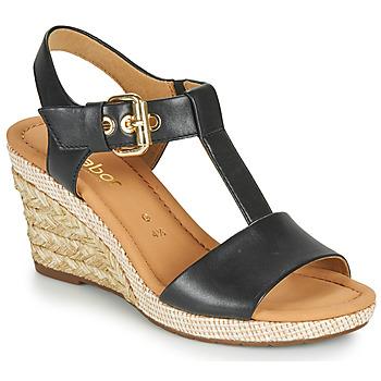 Boty Ženy Sandály Gabor 6282457 Černá