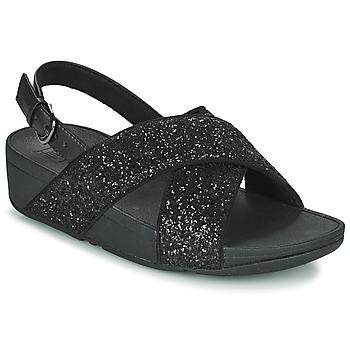 Boty Ženy Sandály FitFlop LULU Černá