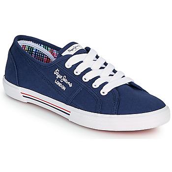 Boty Ženy Nízké tenisky Pepe jeans ABERLADY ECOBASS Tmavě modrá
