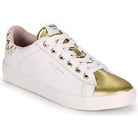 Boty Ženy Nízké tenisky Pepe jeans KIOTO FIRE Bílá / Zlatá