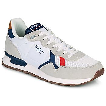 Boty Muži Nízké tenisky Pepe jeans BRITT MAN BASIC Bílá / Béžová