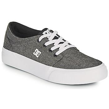 Boty Chlapecké Skejťácké boty DC Shoes TRASE B SHOE XSKS Šedá