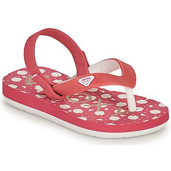 Boty Dívčí Žabky Roxy TW TAHITI VI Růžová