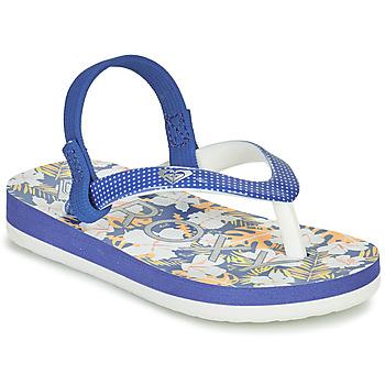 Boty Dívčí Žabky Roxy TW PEBBLES VI Modrá