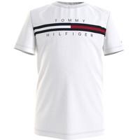 Textil Chlapecké Trička s krátkým rukávem Tommy Hilfiger KB0KB06532-YBR Bílá