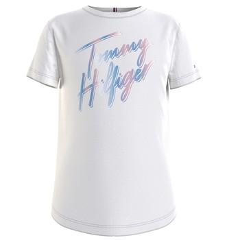 Textil Dívčí Trička s krátkým rukávem Tommy Hilfiger KG0KG05870-YBR Bílá