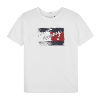Textil Dívčí Trička s krátkým rukávem Tommy Hilfiger MONCHE Bílá