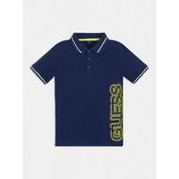 Textil Chlapecké Polo s krátkými rukávy Guess L1GP00-KADZ0-DEKB Tmavě modrá