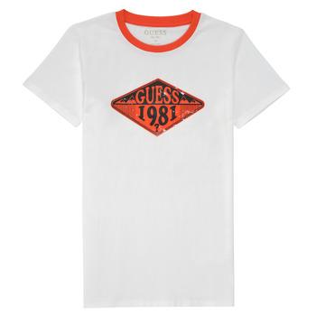 Textil Chlapecké Trička s krátkým rukávem Guess L1GI09-K8HM0-TWHT Bílá