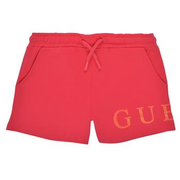 Textil Dívčí Kraťasy / Bermudy Guess K1GD08-KAN00-C448 Růžová