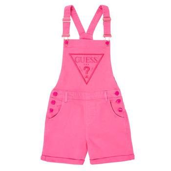 Textil Dívčí Overaly / Kalhoty s laclem Guess J1GK12-WB5Z0-JLPK Růžová