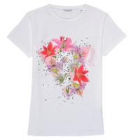 Textil Dívčí Trička s krátkým rukávem Guess J1RI24-K6YW1-TWHT Bílá