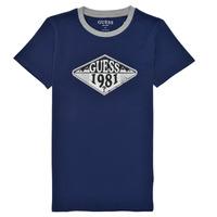 Textil Chlapecké Trička s krátkým rukávem Guess L1GI09-K8HM0-DEKB Tmavě modrá