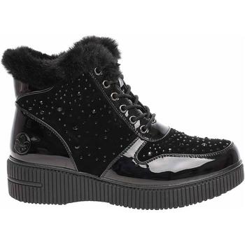 Boty Ženy Polokozačky Rieker Dámská kotníková obuv  93312-00 schwarz Černá