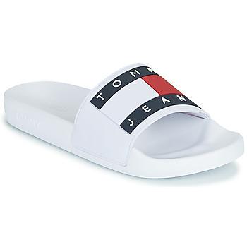 Boty Ženy pantofle Tommy Jeans TOMMY JEANS FLAG POOL SLIDE Bílá