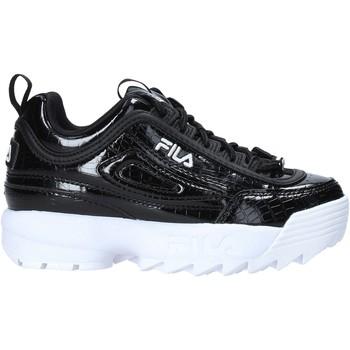 Boty Děti Módní tenisky Fila 1011081 Černá