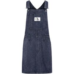 Textil Ženy Overaly / Kalhoty s laclem Calvin Klein Jeans J20J214426 Modrý