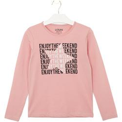 Textil Děti Trička & Pola Losan 024-1631AL Růžový
