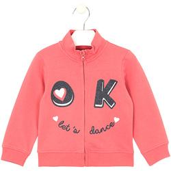 Textil Děti Mikiny Losan 026-6651AL Růžový