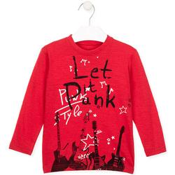 Textil Děti Trička & Pola Losan 025-1001AL Červené