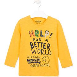 Textil Děti Trička & Pola Losan 025-1005AL Žlutá